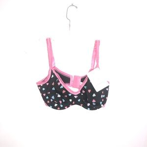 Cacique Demi Heart Bra 38 D New